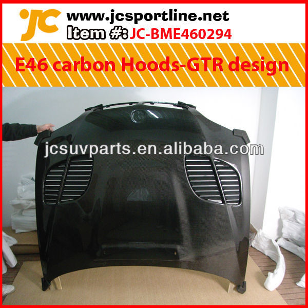 Car bonnet E46 carbon Hoods-GTR design for 02-05 BMW