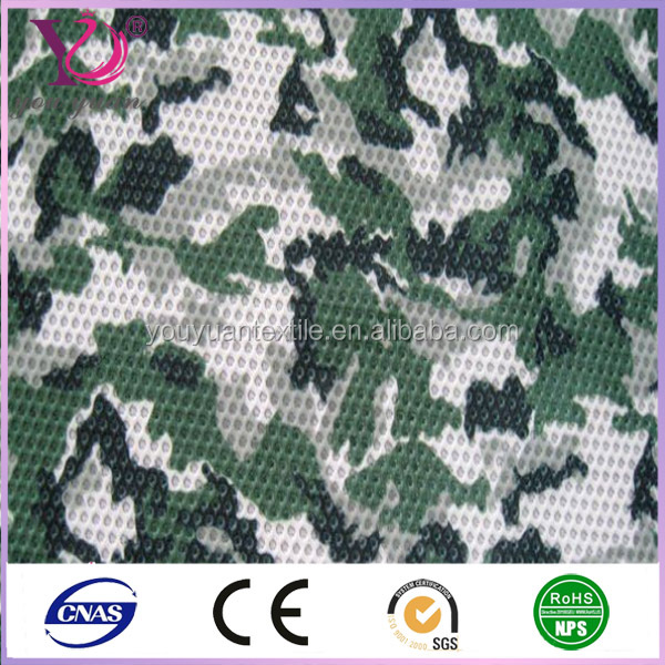 Woodland Camouflage Army Military Hunting Camo Mesh Breathable Fabric