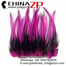 Leading Supplier CHINAZP Feather Dyed Hot Pink Laced Rooster Cape Feathers