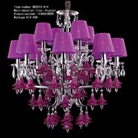iron metal chandelier lighting with K9 crystal