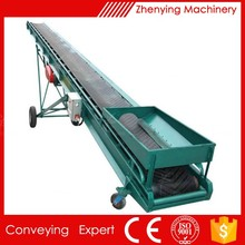 Granular Rubber Pneumatic belt Conveyor system manufacture