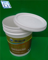 20 liter round plastic bucket for chemica/oil/ paint bucket with lid and handle