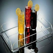 acrylic beverage bottle tray juice glass tray