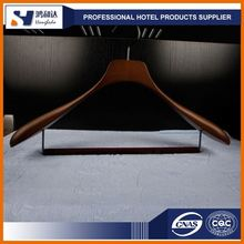 Wholesale Custom Hotel Dry Cleaning Brown Wood Cloth Hanger