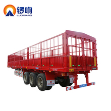 Fuwa Axle 40FT Container Wood Pipe Transport Stake Semi Trailer