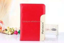 High quality leather flip handle Stand Card Holder smart cover case for ipad mini 4