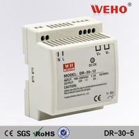 CE ROHS 30w DR-30-5 constant current led 5v din rail smps