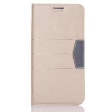 Wallet Stand Flip PU leather phone case for Samsung S6, cell phone case wholesale
