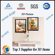 3d picture/large 3d pictures of flowers/home decor 3d pictures wholesale