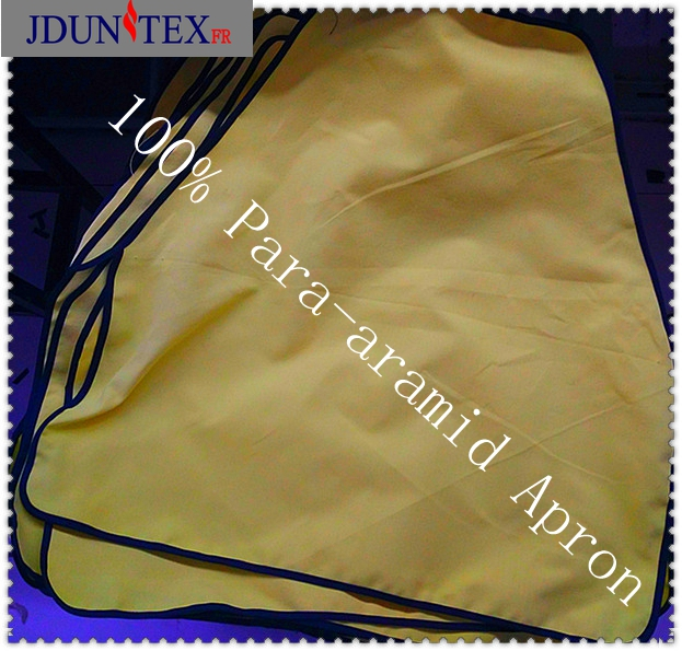 NFPA2112 heat original yellow 230gsm 100% para-aramid fireproof woven fabric for protective apron