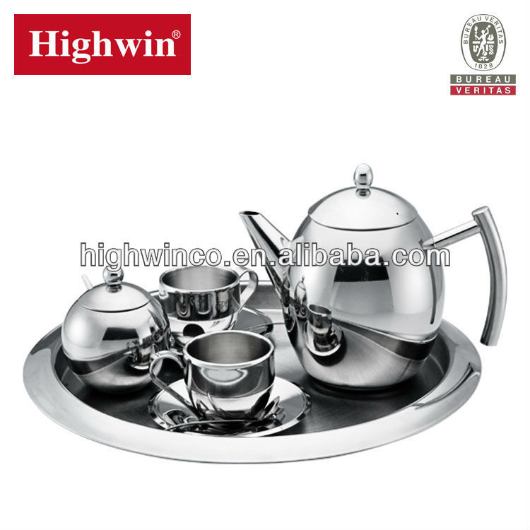 Highwin jiangmen Stainless steel FDA unique coffee tea set