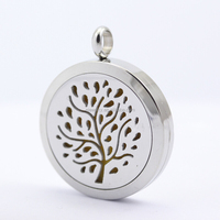 Stailess Steel women Photo Perfume Lockets Pendant Aroma Essential Oil Diffuser Locket Necklace Diffuser Hollow Pendant