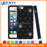 Set Screen Protector And Case , Silicone Diamond Case Cover For Iphone 5