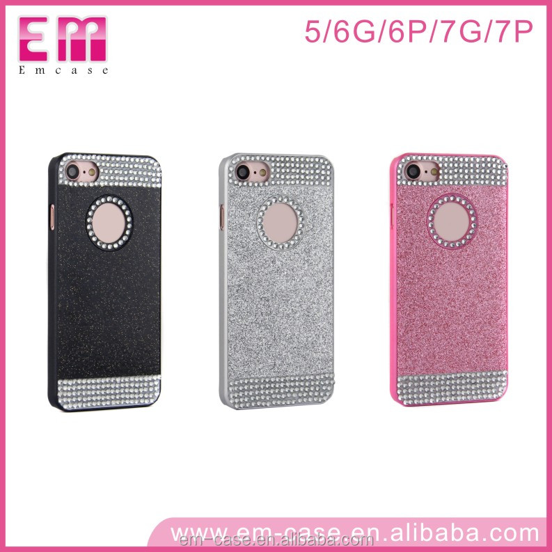 For iphone5 6 6+ 7 7+ case hard PC luxury diamond glittle bling lady's mobile phone cases for iphone7 7+