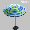 200CM*16k tilt mechanism for patio umbrella with 180G stripe printed polyester