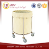 Hotel Metal Laundry Basket with Wheels