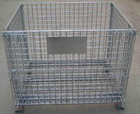 Warehouse Stackting Wire Mesh Storage Crate