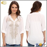 New fashion 1/2 sleeve women tops 2014 ladies tops latest design
