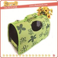 Lovely dog carrier ,p0w48 pattern pet dog carrier , cute pet cage for sale