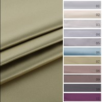 Newest design top quality shrink-resistant satin look blackout curtain fabric