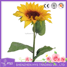 Wholesale artificial flowers cheap pu artificial sunflowers