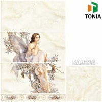 300x600 Beautiful Lady Picture Decorative Tiles Bathroom Wall Ceramic Tile with Flooring price in spain