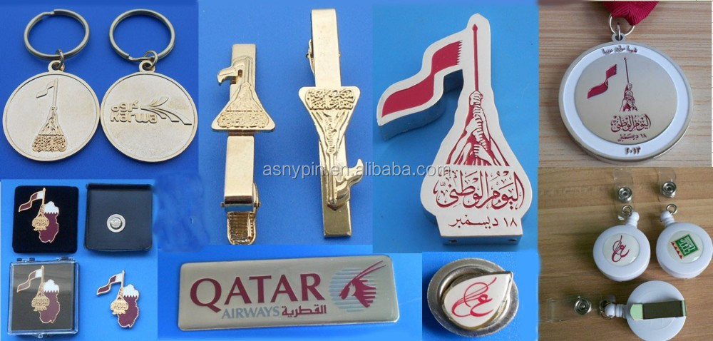 Celebrate UAE 46th national day reinstone finger shaped lapel pin
