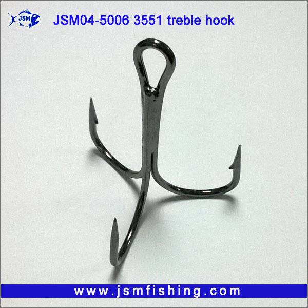 2# 4# 6# 8# 10# High Carbon Steel Fishing Hook Fishhooks Durable Treble Hooks with Hole Carp Fishing Tackle Box