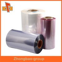 Customize plastic material high quality pvc super clear film with color printing