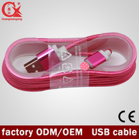 Colourful nylon braided custom usb micro usb cable for hot sell 8 pin I6/6s