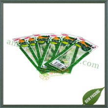 eco friendly disposable mylar three side seal food bags pouch with tear notch
