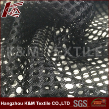 100% polyester black dye Air big Mesh Fabric For lining fabric pvc mesh outdoor fabric
