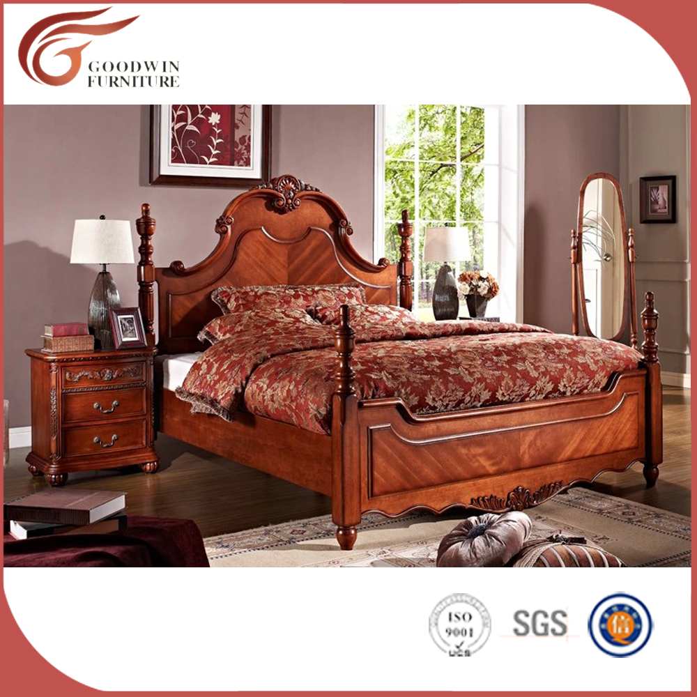 Cheap royal luxury wooden bedroom furniture a58 buy for Where to get cheap bedroom furniture