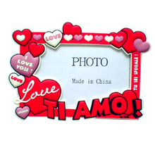 Wholesale mini acrylic photo frame double photo frame