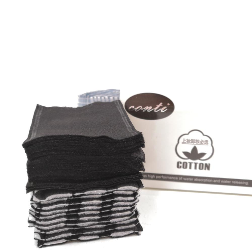 OEM deep clean bamboo charcoal cotton pads/ cosmetic cotton pads