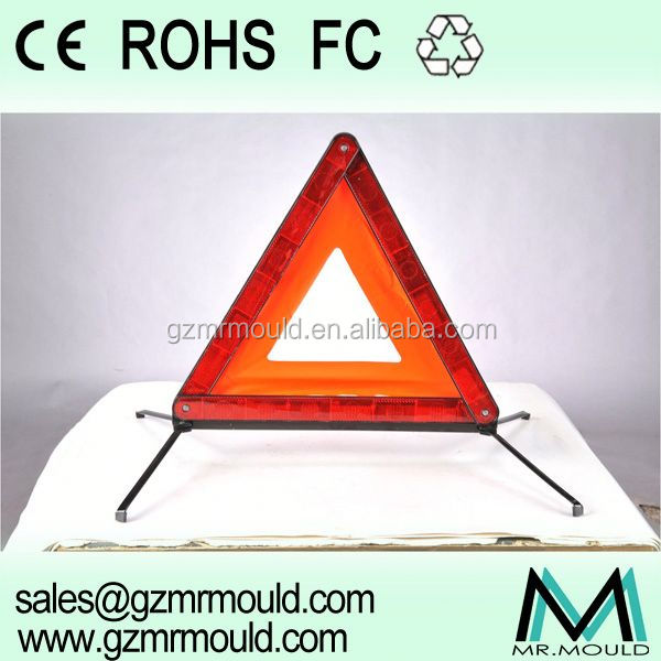 red safety reflective warning triangle use for emergency car tool