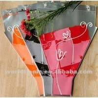 Y shaped printed Flower Sleeves for fresh flower packaging