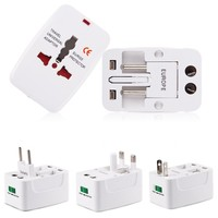 Universal Travel Adapter 2 USB Conversion Socket Multifunctional Conversion Plug Global Universal Power Converter