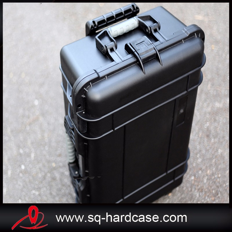 waterproof plastic case equipment box camera case Meter box with pre-cut foam