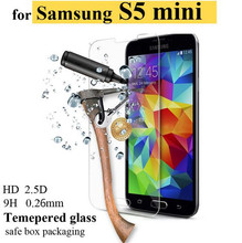 Premium S5 Mini Tempered Glass Film LCD Guard Explosion Proof Screen Protector for SamsungGalaxy S5 Mini G800 Protective Film