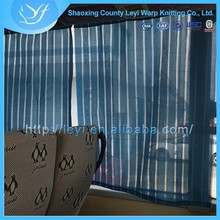 Woven Polyester& Cotton Blue Bus Window Curtain