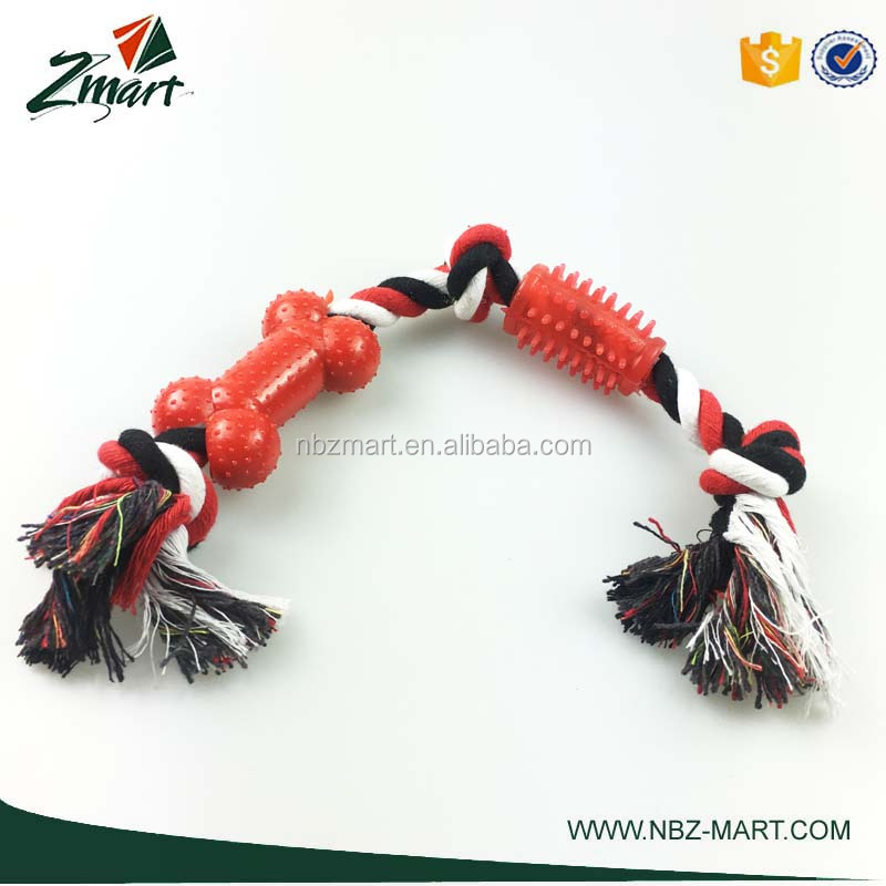 ZMART Best Selling Rubber & Rope mixed dog toys supplier for dog toys