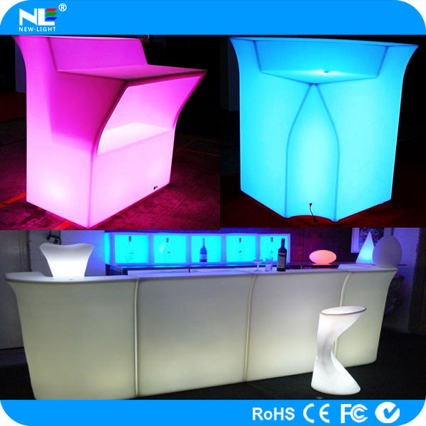 Hot design high quality bar counter with light for sale led furniture to celebration christmas day
