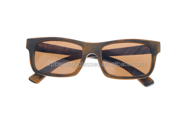 Handmade Retro Vintage Women Men Personalized Logo UV400 Bamboo Sunglasses