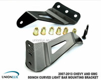 Offroad Brackets for 07-13 Chevy and GMC truck mounting brackets for 50 inch curved led light bar