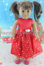 2014 lovely red clothes for 18inch American Girl Doll