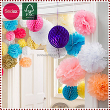 Tissue Paper Honeycomb Paper Wedding Pompom Ball
