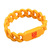 OEM special design pocket size cheap price classic screen printed awareness chain link twist shaped custom silicone bracelet