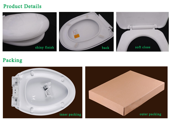 Competitive Price Customized Fashion Elongated Design Durable Polyresin Raised Toilet Seat