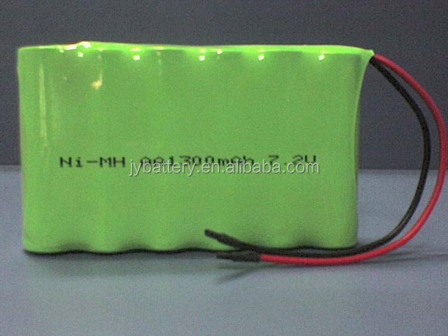7.2V AA 1300mAh Ni-MH Rechargeable Battery Pack for Camping Lights, Solar Lights